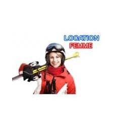Femme complet skis+bâtons+chaussures