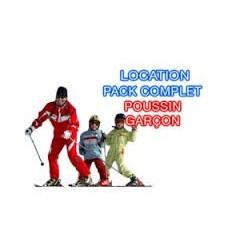 Garçon poussin complet+skis+bâtons+chaussures