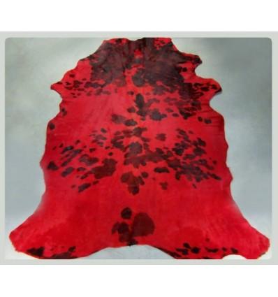 Peau de vache normande teintée rouge 200x170cm (~4m²)