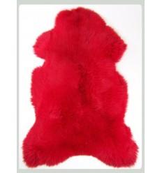 Peau de mouton décorative - Rouge