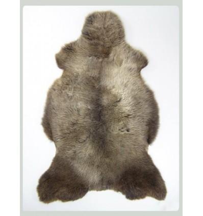 Peau de mouton 1er Choix décorative chiné 100x80cm