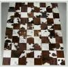 Peau de décoration patchwork marron foncé 150x200cm