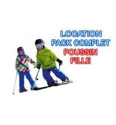 Fille poussin Skis+bâtons+chaussures
