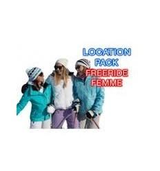 Skis freerides+bâtons+chaussures femme