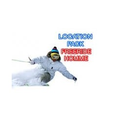 Skis freerides+bâtons+chaussures homme