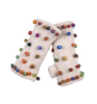 003A Mitaines en laine doublées polaire