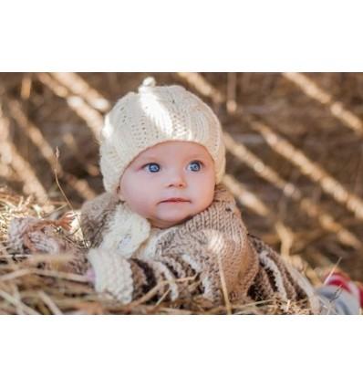 001ZD Bonnet en laine pour bébé - Taille Unique