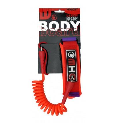 HOWZIT LEASH BODYBOARD 4' / 7mm - Biceps - Orange/Violet