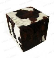 Pouf en peau de vache