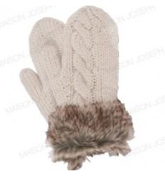 Moufles pure laine - Ecru