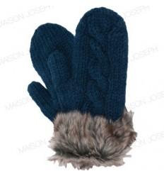 Moufles pure laine - Bleu