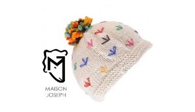 100% Laine merinos tricoté main doublé polaire