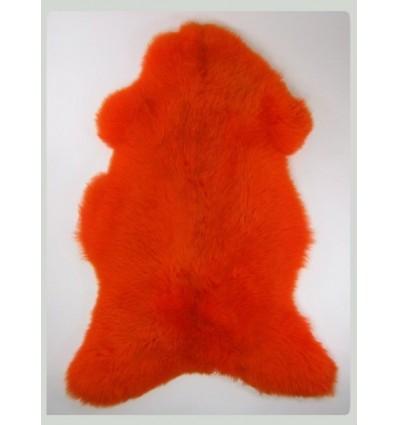Peau de mouton 1er Choix décorative orange 100x80cm