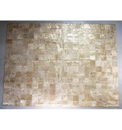 Peau de décoration patchwork taupe 150x200cm
