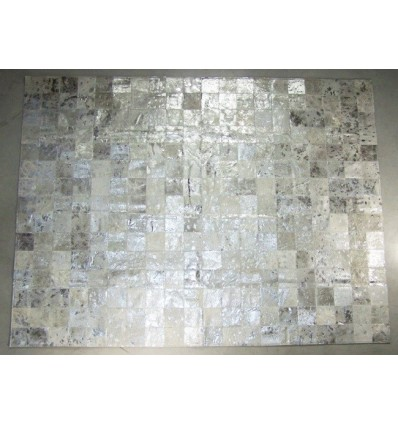 Peau de décoration patchwork argenté 150x200cm