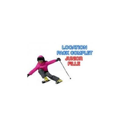 Location Junior Skis bâtons chaussures