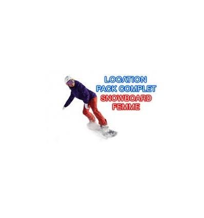 Snowboard+Chaussures femme