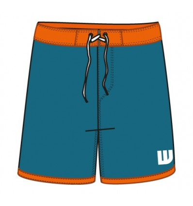 HOWZIT - BOARDSHORT CATALINA HOMME - BLEU/ORANGE