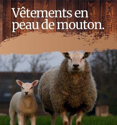 Vêtements en peaux de mouton